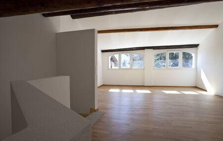rustic house interior, empty space is not furnished Stock Photo - 24358038