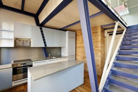 Moderne Designer, Wohnung Mit Mezzanine Lizenzfreie Fotos, Bilder ...