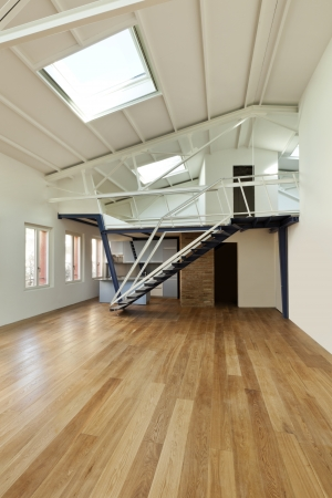 modern designer, apartment with mezzanine Stock Photo - 24495658