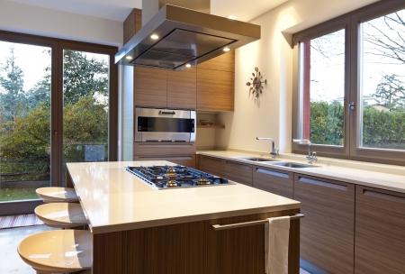 beautiful apartment, interior, kitchen photo