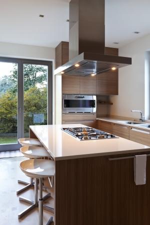 cuisine: bel appartement, int�rieur, cuisine Banque d'images