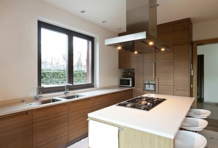 view window: beautiful apartment, interior, kitchen