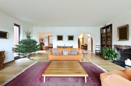 perspective room: beautiful apartment, interior, living room