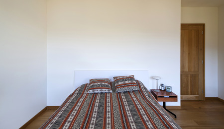 interior bedroom: beautiful apartment, interior, bedroom Stock Photo