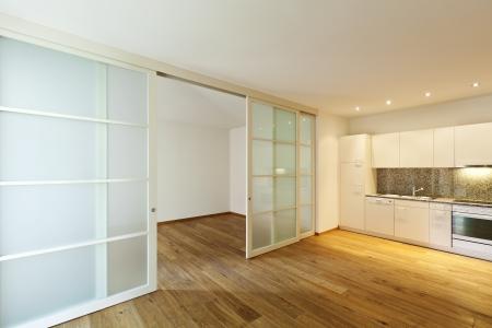 interior empty house with wooden floor Stock fotó
