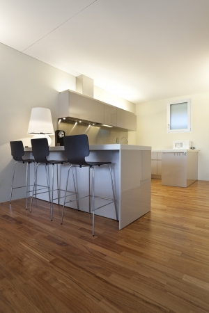 contemporary kitchen: contemporary house, kitchen Stock Photo