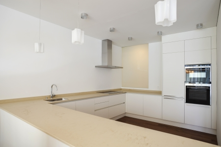 Modern house, kitche  photo