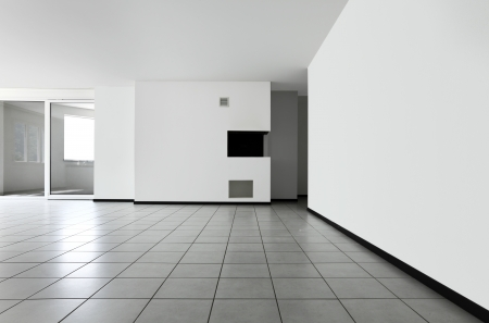 wall tiles: Interior of modern apartment, living room Stock Photo
