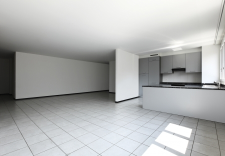 Interior of modern apartment, living room photo