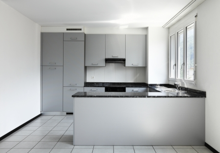 Interior of modern apartment, kitchen photo