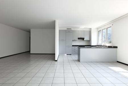 Interieur van moderne appartement, keuken