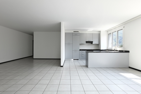 floor tiles: Interior of modern apartment, kitchen Stock Photo