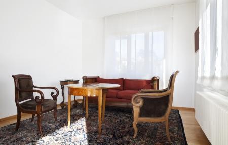 classic living room: interior, classic furniture, living room Stock Photo