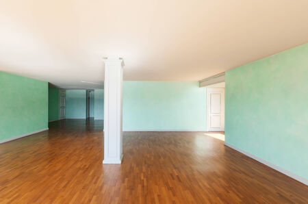 unfurnished: Interior, empty apartment classic, large room