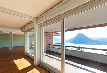 Interior, apartment in style classic, large windows