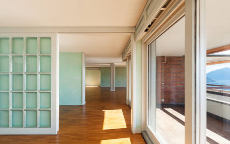 unfurnished: Interior, apartment in style classic, large windows