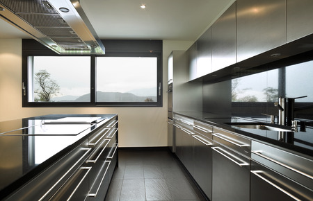 interior modern house, kitchen Stock Photo