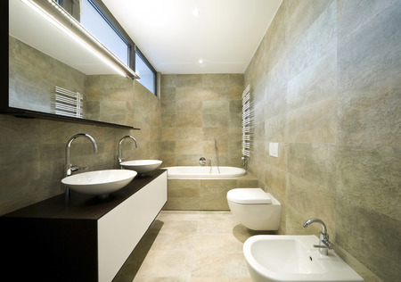 interior modern house, bathroom photo