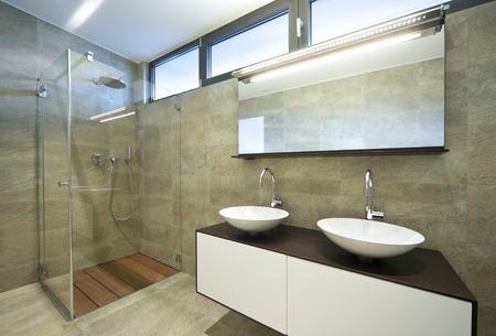 interieur modern huis, badkamer