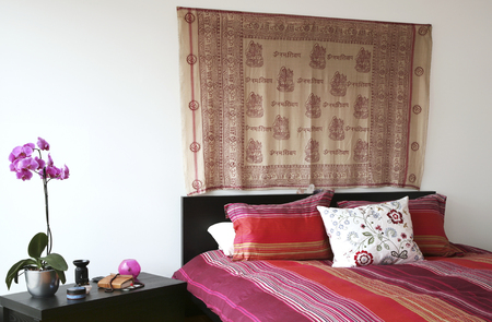 tapestry: interior house, bedroom
