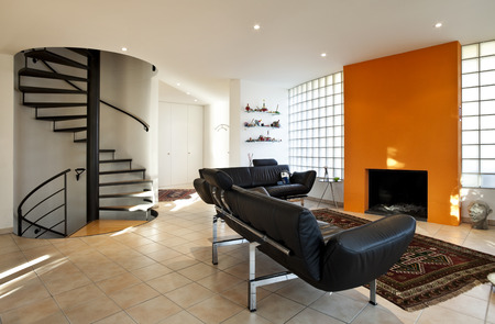 beautiful apartment interior, modern furniture Stock Photo - 26053025