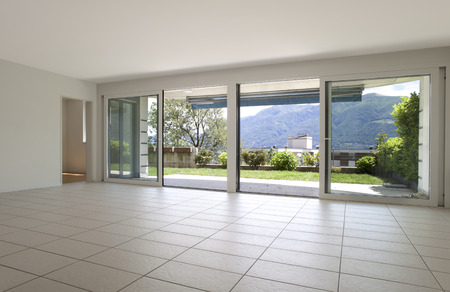veranda: Modern living room interior Stock Photo
