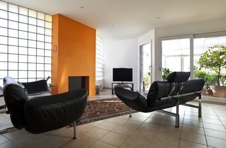 beautiful apartment interior, modern furniture Stock Photo - 26053068