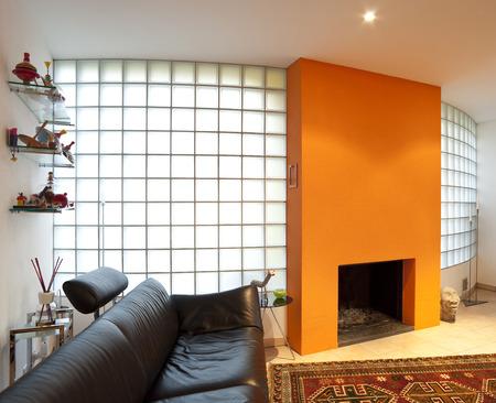 beautiful apartment interior, modern furniture photo