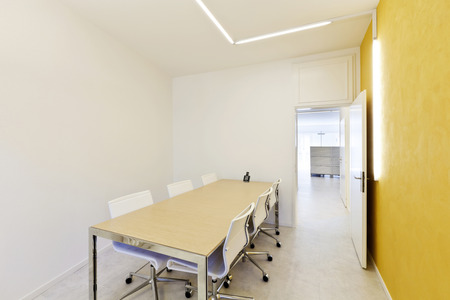modern office interior design, meeting room  photo