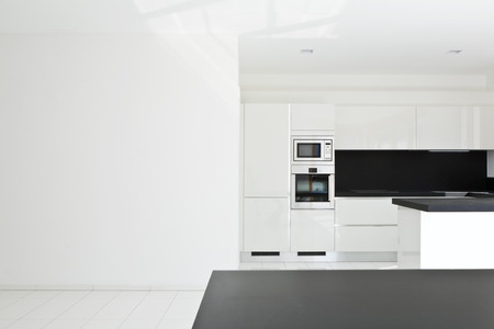 interior home, new kitchen, open space Stock Photo