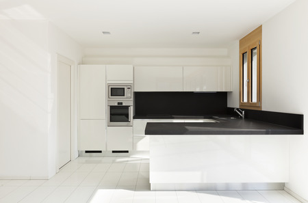 lucid: interior home, new kitchen, open space Stock Photo