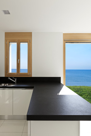 home interior, view of the panoramic window