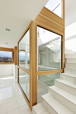 stairwell: interior, stairwell of a modern home Stock Photo