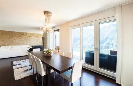 luxury apartment: interior luxury apartment, beautiful dining room Stock Photo