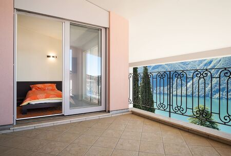 interior luxury apartment, beautiful veranda photo