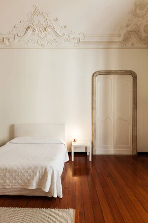 beautiful interior of hotel, view classic bedroom  photo