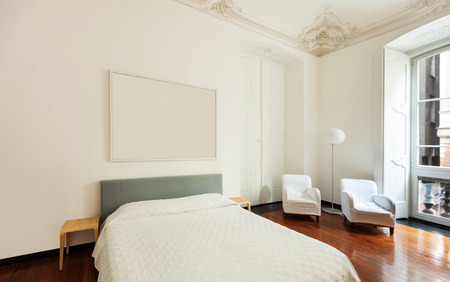 white room: beautiful hotel room in a historic building, double room