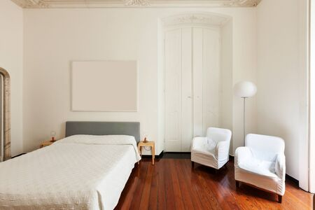 beautiful hotel room in historic building, double room photo