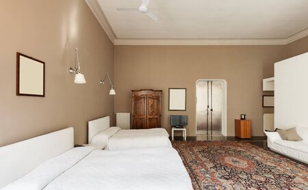 beautiful hotel room in historic building, suite photo