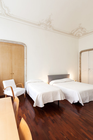 beautiful hotel in old historic building, double room photo