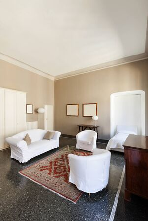 hotel suite: beautiful hotel in a historic building, suite Stock Photo