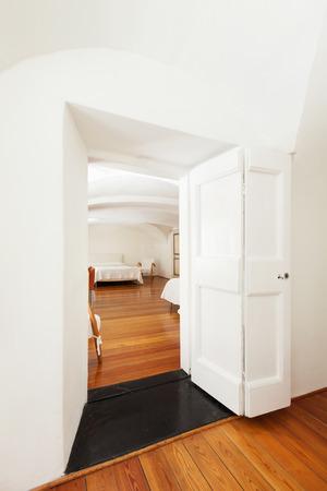 room door: hotel in historic palace, interior, view bedroom