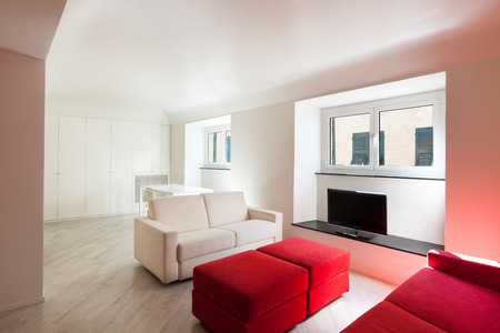 perspective room: Interior, beautiful apartment, modern furniture
