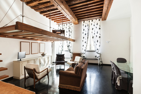 wide open spaces: Interior, beautiful loft, living room view