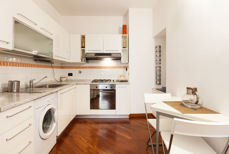 wide open spaces: Interior, beautiful apartment, room, kitchen view
