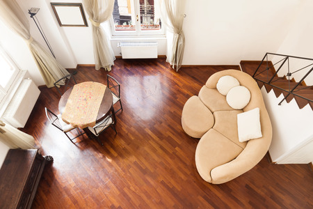 divan: Interior, hermoso apartamento, habitación, vista desde arriba