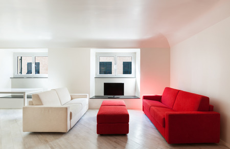 modern sofa: Interior, beautiful apartment, modern furniture