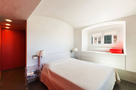 Interior, beautiful apartment, modern furniture photo