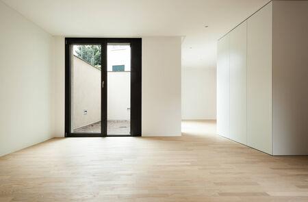 big windows: interior new house, veranda view from the hall