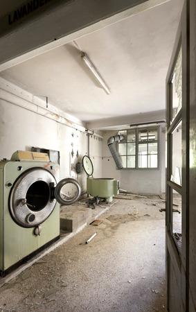 abandoned building,  old laundry Stock Photo - 27328994